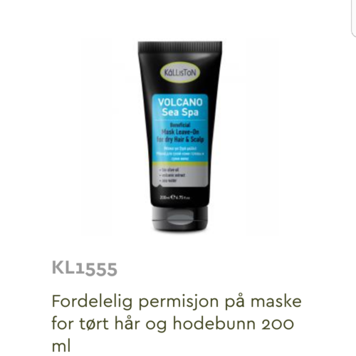 Kalliston Volcano hårmaske for tørt hår og hodebunn 200 ml