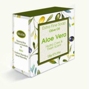 Kallston ekstra fin såpe 130gr Aloe Vera oliven olje