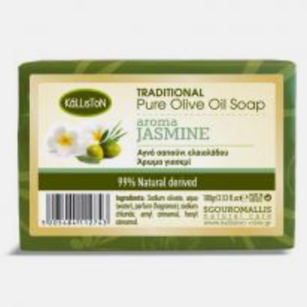 Gresk ren olivenolje såpe aroma jasmin