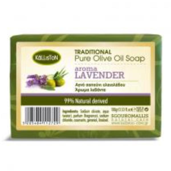 Gresk ren olivenolje såpe lavendel 100 g