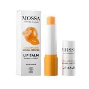 Mossa Rich Repair lips balsam reparer skadet lepper og tilfører fuktighetomega3 og 6 naturlige ingredienser FP10