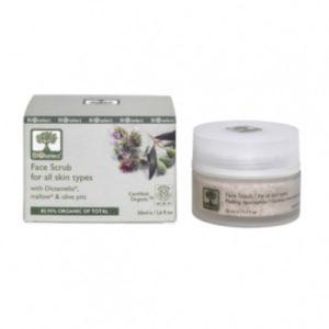 Bioselect ansikt skrubb for alle hudtyper organisk produkt 50 ml