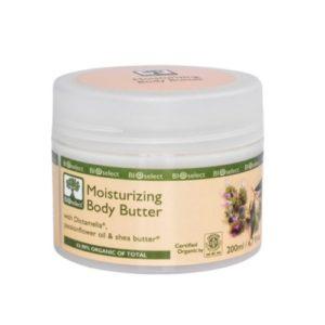 Bioselect Moisturizing body butter 200ml organisk for alle hudtyper fri for parabener